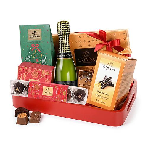 Godiva Chocolates & Moët Christmas Joy