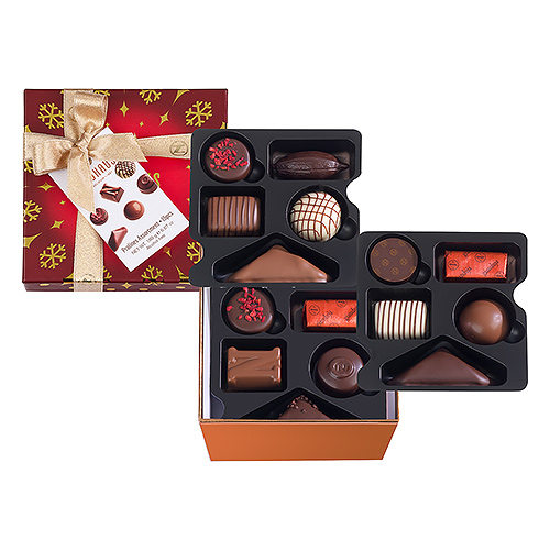 Neuhaus Christmas 2019 : Square Giftbox Medium Holiday Version