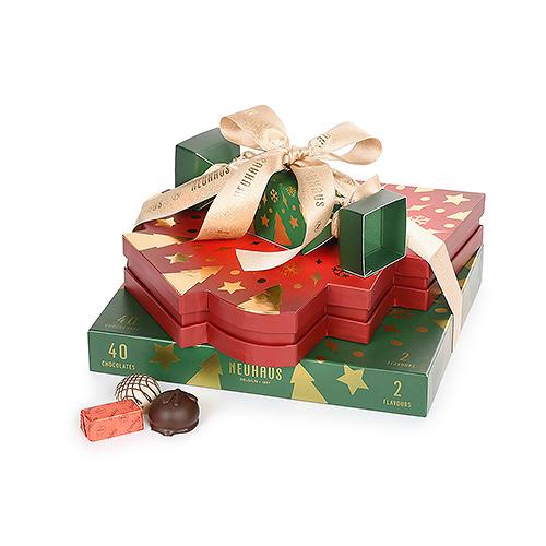 Neuhaus Gift Tower with Christmas Chocolates