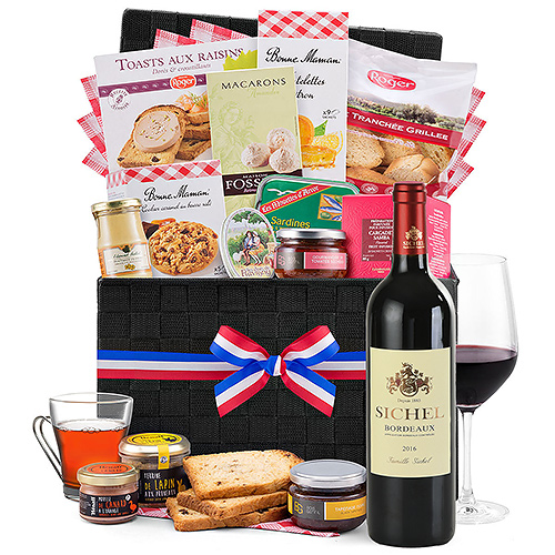 Gifts 2019 : French Wicker Deluxe & Red Wine