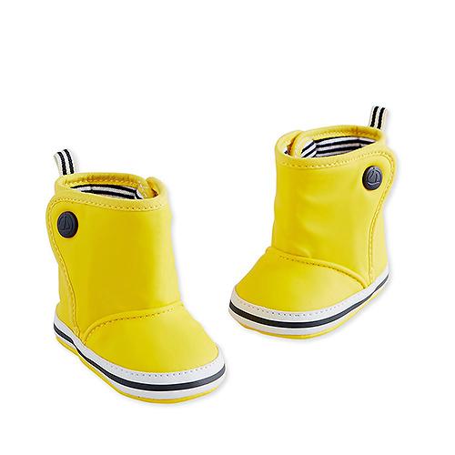 Petit Bateau : Yellow Baby Boots, 6 Months - Size 19/20