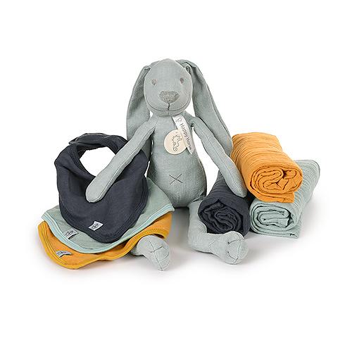 Lassig Set Blanket Large , bandana & Happy Horse Cuddle Baby Boy