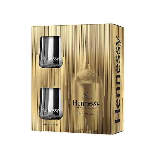 Hennessy EOY 70 cl + 2 Verres