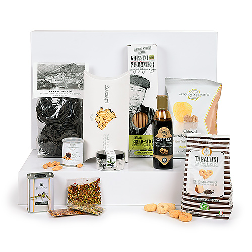 Gifts 2020 : Italian Deluxe Gourmet Giftbox white edition