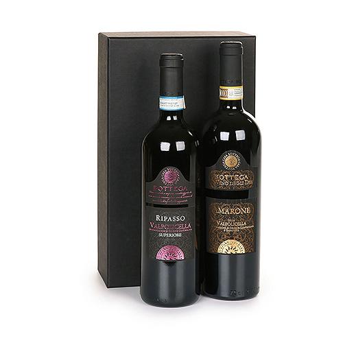 Gifts 2021 : Italian Wine Duo : Bottega Valpolicella Ripasso & Amarone