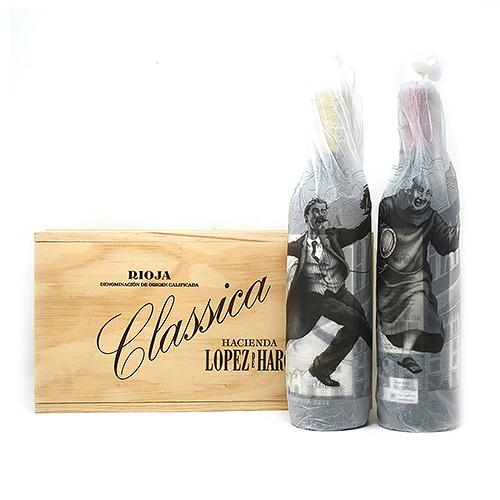 Hacienda Lopez Haro Rioja Classica Kist Gran Reserva (wit 2012 + rood 2001) , 75cl