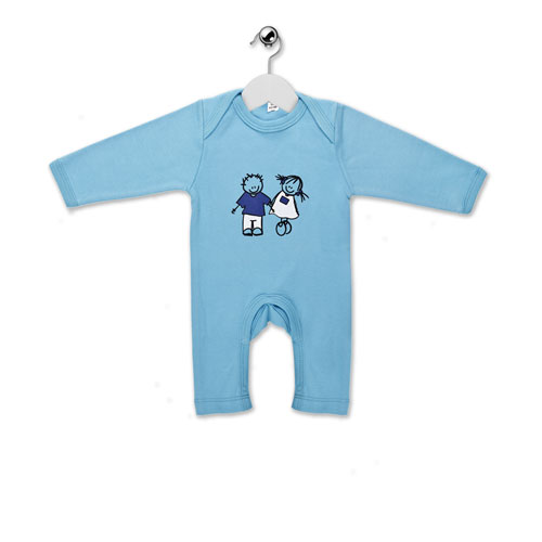 Baby-grow Rube & Rutje - Blue