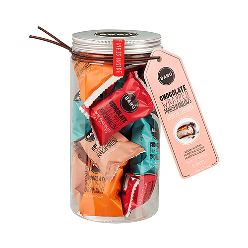 Barú Chocolate Marsmallow Assorted Flavours In Gift Jar