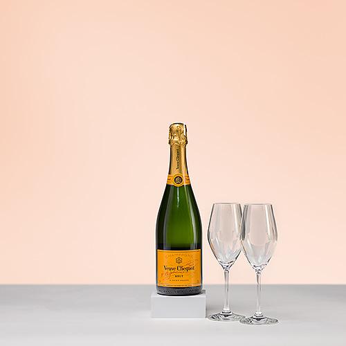 Champagne Veuve Clicquot & 2 Verres