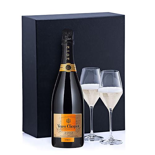 Champagne Veuve Clicquot Vintage & 2 Verres