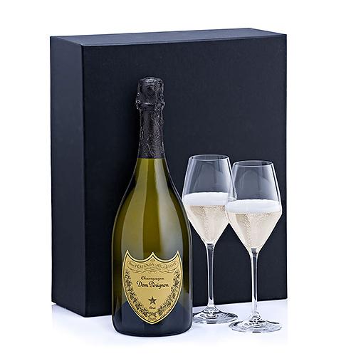 Champagne Dom Pérignon & 2 Glasses