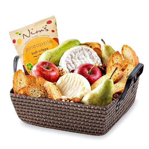 Fresh Fruit & French Cheese Basket