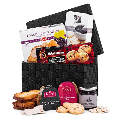 Panier Cadeau de Luxe Foie Gras & Toast