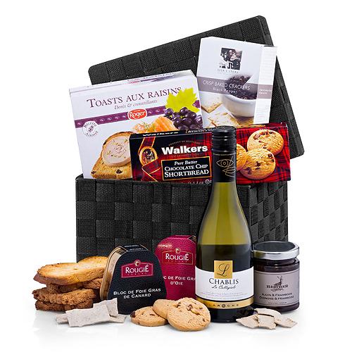 Foie Gras, Toast & Wine Luxury Gift Basket