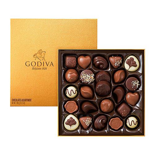 Boîte Rigide Gold 24 Chocolats Godiva