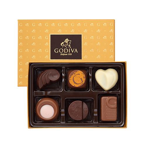 Godiva Gold Discovery Box, 6 pcs