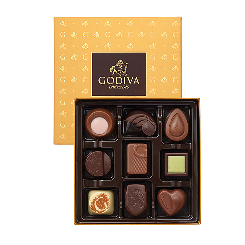 Godiva Boîte Cadeau Gold Discovery, 9pcs