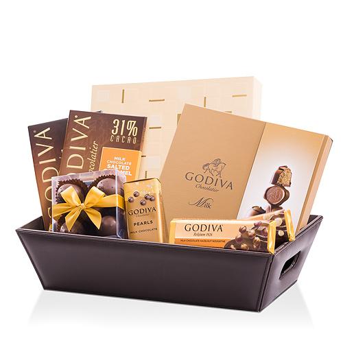 Godiva Panier-Cadeau pour Amateurs de Chocolat au Lait
