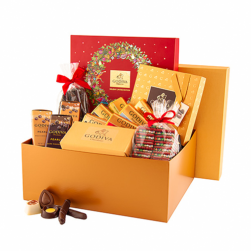 Godiva Christmas Gold Gift Box Chocolates at the Office