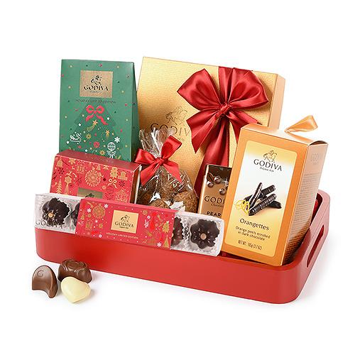 Chocolats Godiva Plateau de Service pour Noël