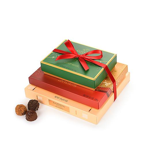 Godiva Sparkling Christmas Chocolate & Truffle Gift Tower 2