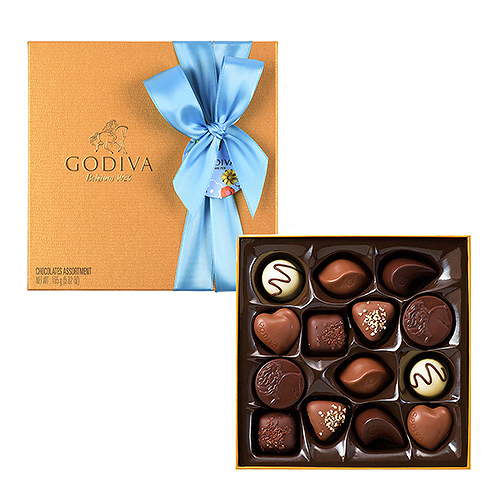Godiva Father's Day Gold Rigid Box, 14 pcs