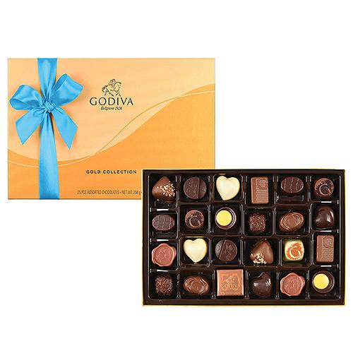 Godiva Father's Day Gold Rigid Box, 24 pcs