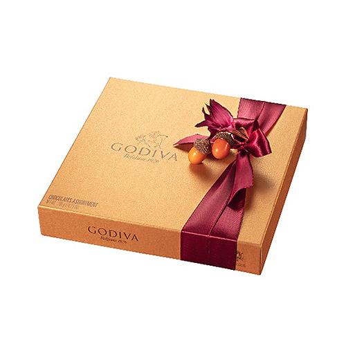 Godiva Fall Gold Rigid Box, 24 pcs