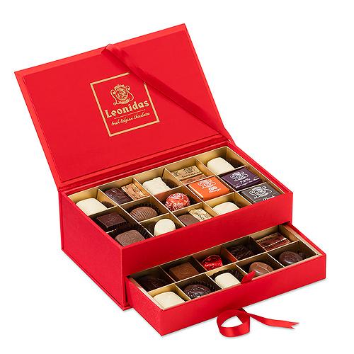 Leonidas Boîte Bijoux Selection Chocolat, 30 pcs