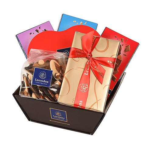 Leonidas Romantic Chocolates Gift Basket