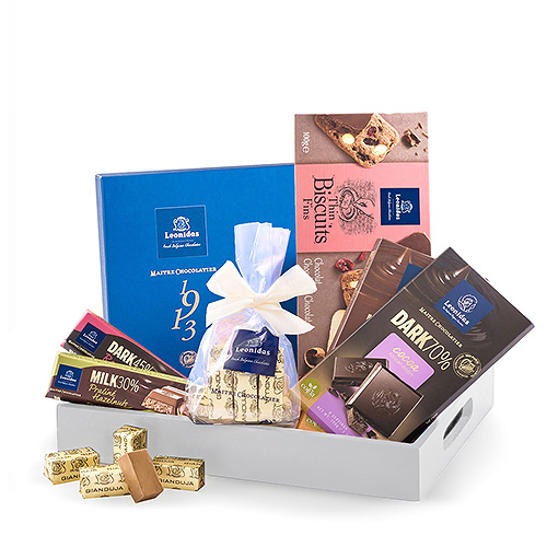 Leonidas Gift Tray with Chocolates & Biscuits