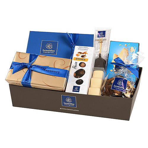 Leonidas Chocolats Panier-Cadeau Bleu