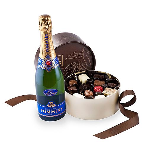 Leonidas Chocolate Truffles & Pommery Champagne