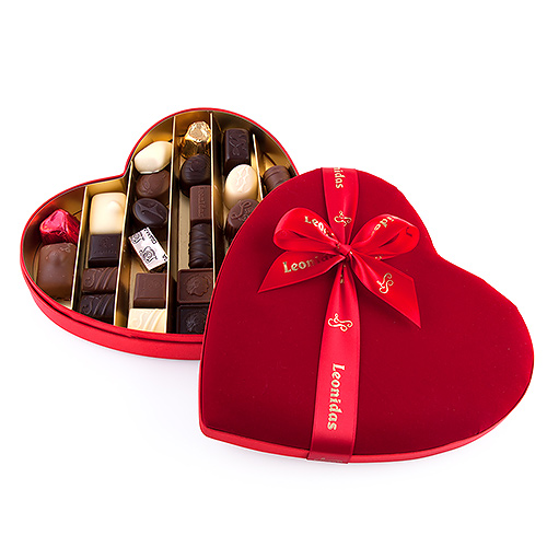 Leonidas Cœur de Velours rempli de Chocolats, 28 pcs