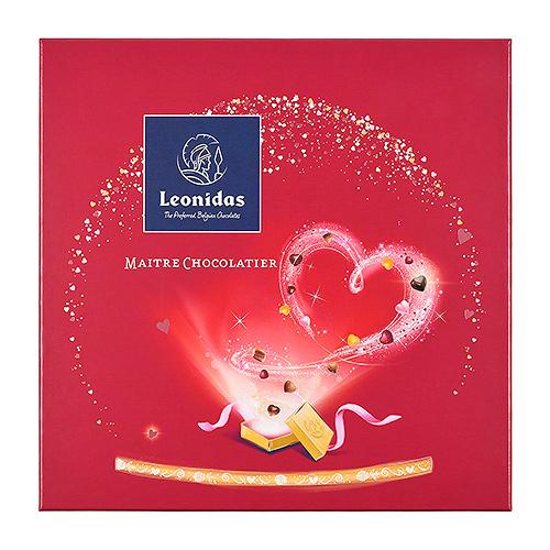 Leonidas Valentine Gift Box Chocolate Hearts, 16 pcs