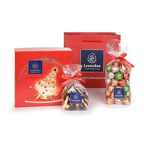 Leonidas Christmas 2020 - Red Christmas Gift Set