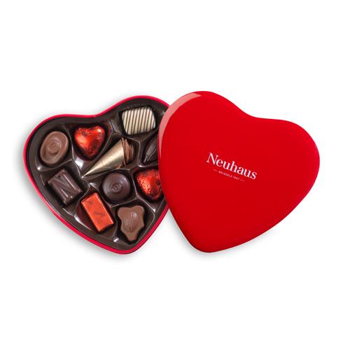 Neuhaus Red Heart Tin Box, 10 pcs
