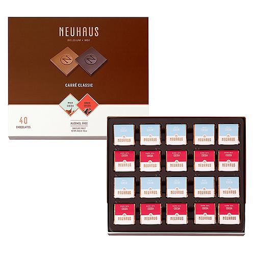 Neuhaus Carré Classic Chocolait Noir et Lait, 200 g