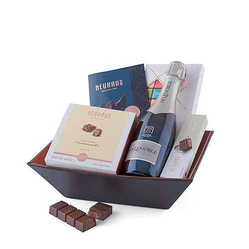 Neuhaus Chocolates Hamper with Champagne