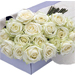 Flower Box White Roses 30 pcs [01]