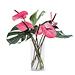 Pink Tropical Bouquet in Plexi Vase [01]