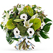 Trias White Sparkle Bouquet - Medium (30 cm) [01]