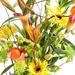 Bouquet avec Fleurs Jaunes et Oranges [02]