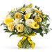 Bouquet Printanier aux Fleurs Blanches et Jaunes - Large (35 cm) [01]