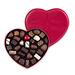 Corné Port-Royal Boîte Coeur en Cuir Rouge Garnie, 440 g, 30 chocolats [01]