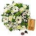 Bouquet Simplement Blanc & Godiva 200 g [01]