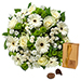 Simply White Bouquet & Godiva 200 g [01]