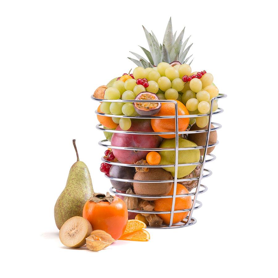 corbeille design remplie de fruits la fois frais et exotiques cadofrance. Black Bedroom Furniture Sets. Home Design Ideas