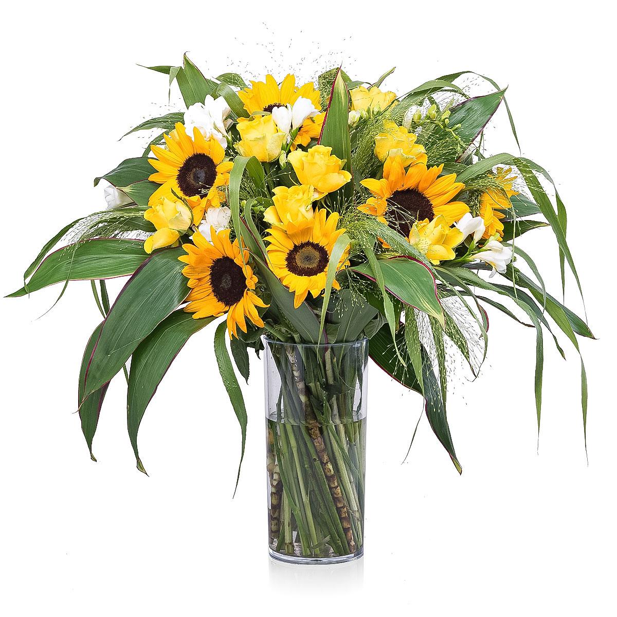 Bouquet de tournesol large 35 cm cadofrance - Bouquet de tournesol ...