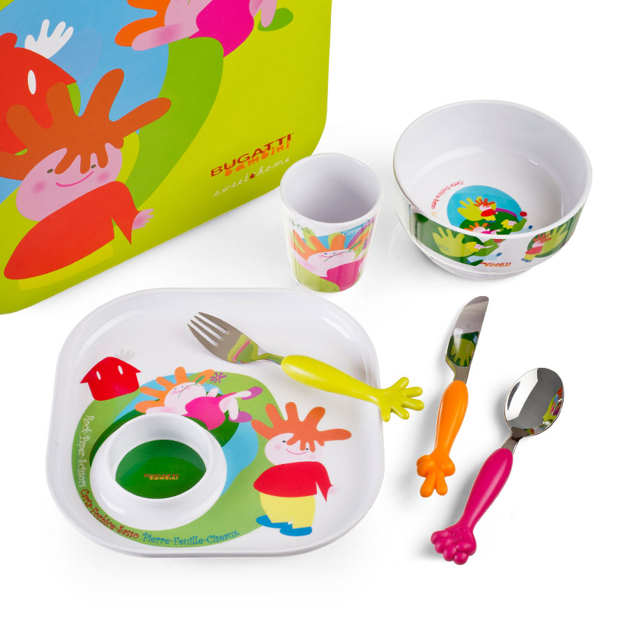 Bugatti sweet home set de table pour enfants cadofrance for Set de table pour enfant